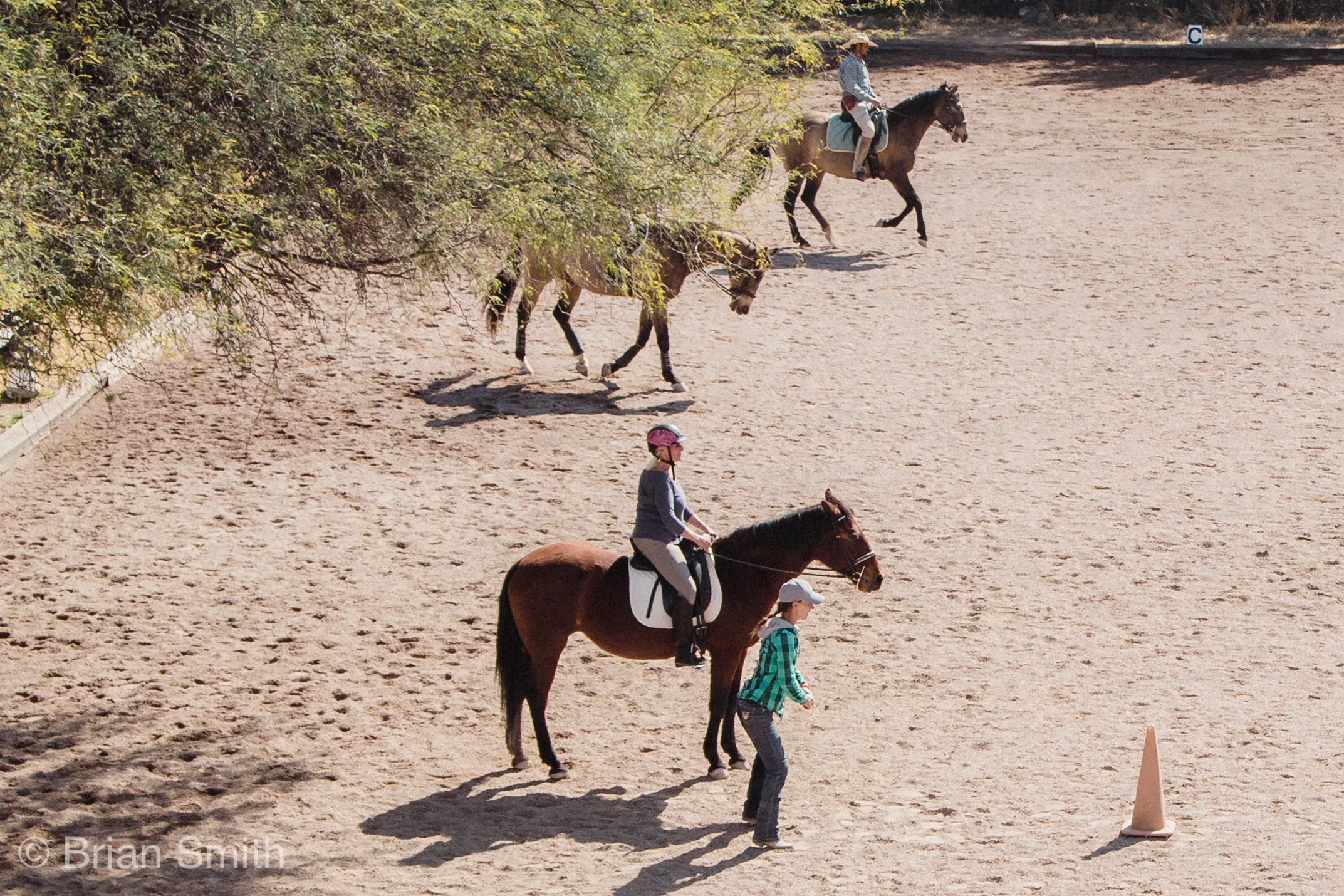 Riding lessons at the ranch